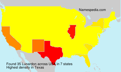 Surname Lunardon in USA