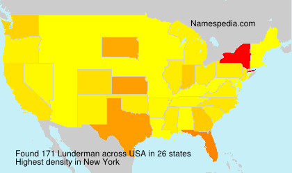 Surname Lunderman in USA
