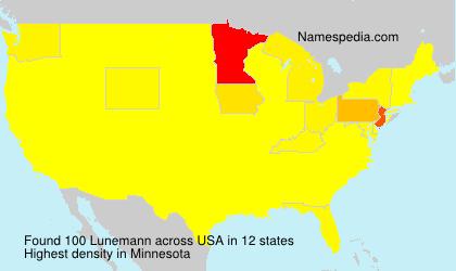 Surname Lunemann in USA