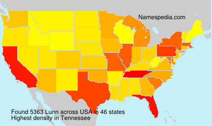 Familiennamen Lunn - USA