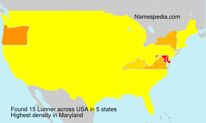 Surname Lunner in USA
