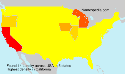 Surname Lunsky in USA