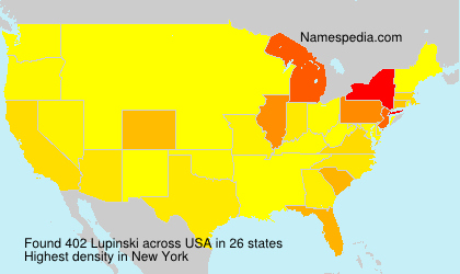 Surname Lupinski in USA