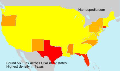 Surname Lurix in USA