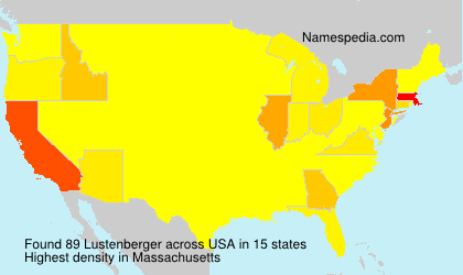 Surname Lustenberger in USA