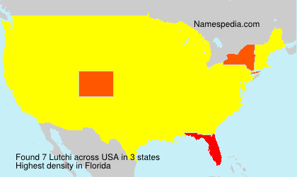 Surname Lutchi in USA