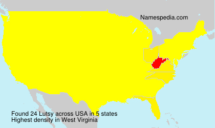 Surname Lutsy in USA