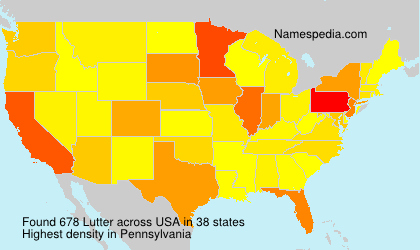 Surname Lutter in USA