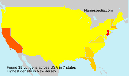 Surname Luttgens in USA