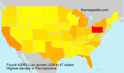 Surname Lutz in USA