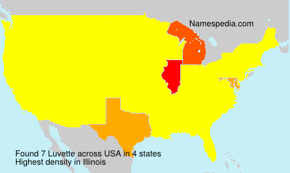 Surname Luvette in USA