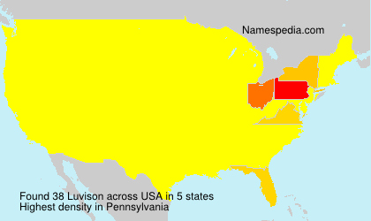 Surname Luvison in USA