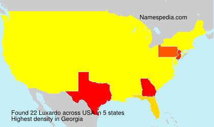Familiennamen Luxardo - USA
