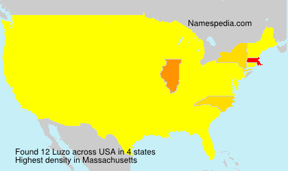 Surname Luzo in USA