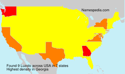 Surname Luzolo in USA
