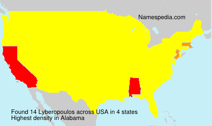 Surname Lyberopoulos in USA