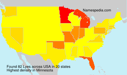 Surname Lyes in USA