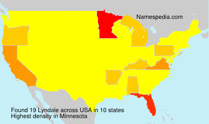 Surname Lyndale in USA