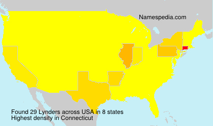 Surname Lynders in USA