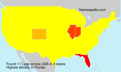 Surname Lypp in USA