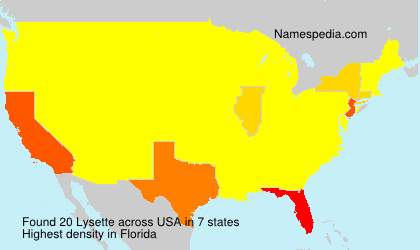 Surname Lysette in USA