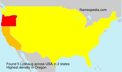 Surname Lyshaug in USA