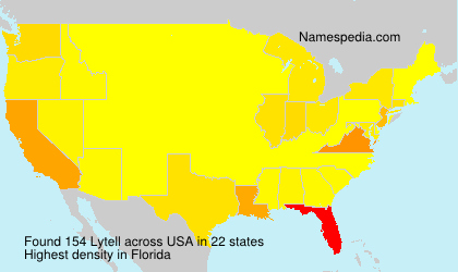 Surname Lytell in USA
