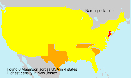 Surname Maamoon in USA