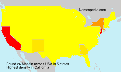 Surname Maasin in USA