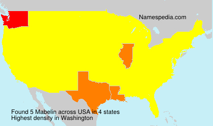 Surname Mabelin in USA