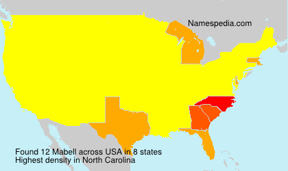Surname Mabell in USA