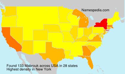 Familiennamen Mabrouk - USA