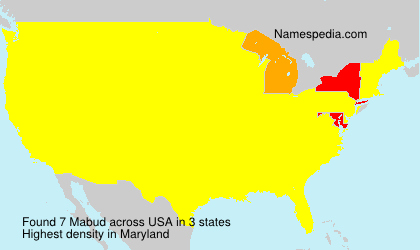 Surname Mabud in USA