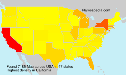 Surname Mac in USA