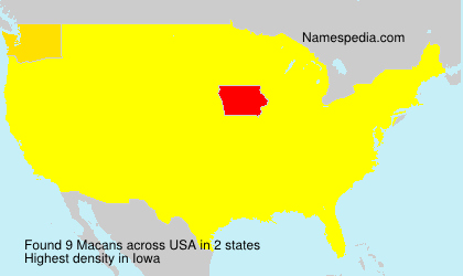 Surname Macans in USA