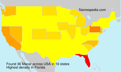 Surname Macar in USA