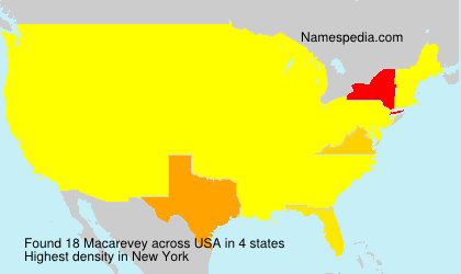 Surname Macarevey in USA