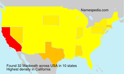 Surname Macbeath in USA