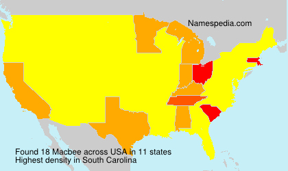 Surname Macbee in USA