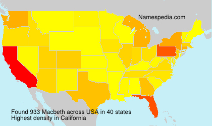 Surname Macbeth in USA