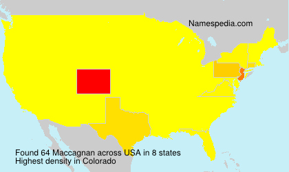 Surname Maccagnan in USA