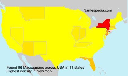 Surname Maccagnano in USA