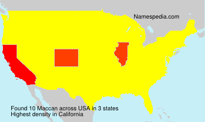 Surname Maccan in USA