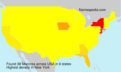 Surname Maccrea in USA