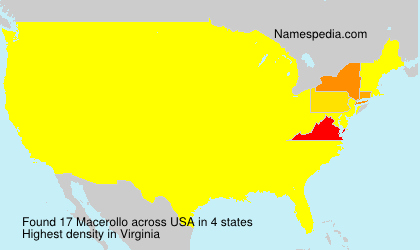 Surname Macerollo in USA