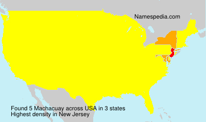 Surname Machacuay in USA