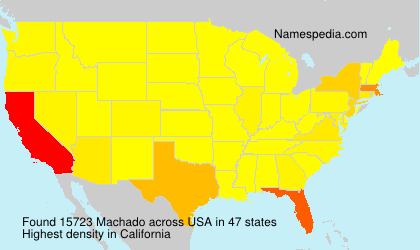 Familiennamen Machado - USA