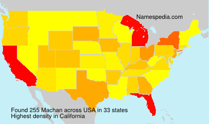 Surname Machan in USA