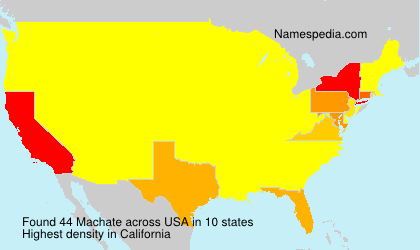 Surname Machate in USA
