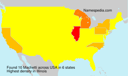 Surname Machetti in USA